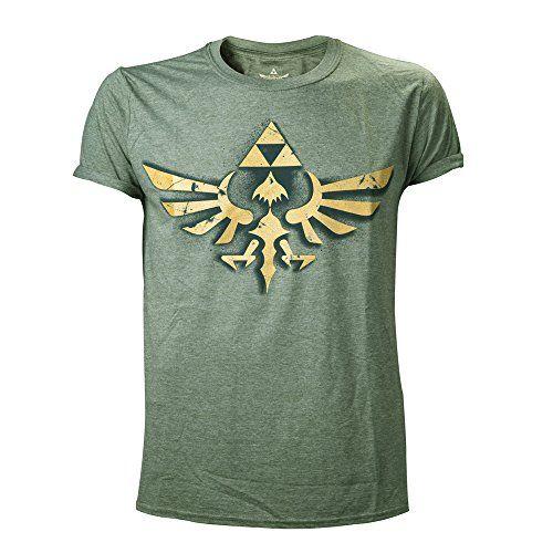 Nintendo T-Shirt -Xl- Zelda Logo Vintage, Grau [Importación Alemana] #camiseta #friki #moda #regalo