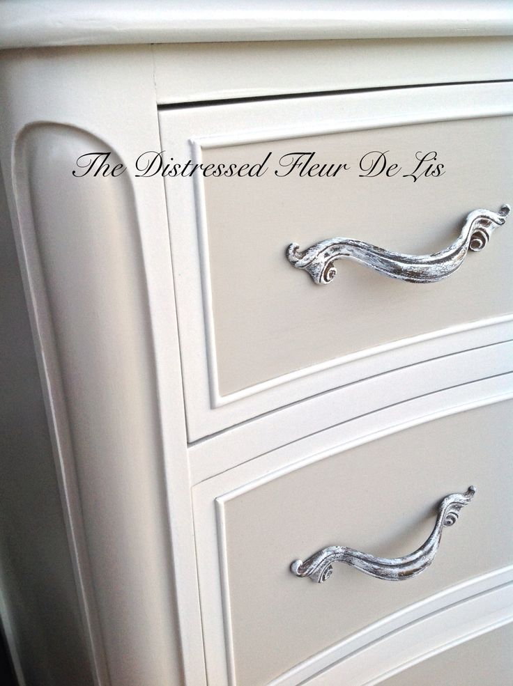 Vintage French Provincial dresser painted in General Finishes Antique White  and Linen milk paint. It - Top 25+ Best Antique White Furniture Ideas On Pinterest Antique