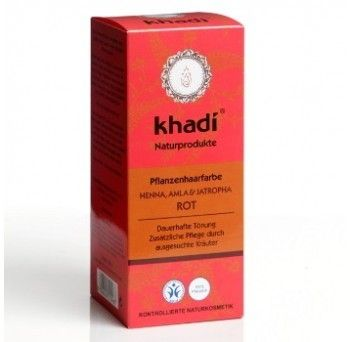 Henna naturala (Rosu) - vopsea de par naturala, 100g, Khadi - Sabedoria