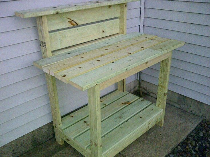 wooden bench with cooler plans | potting bench - Kreg Jig Owners Community | Great project idea ...