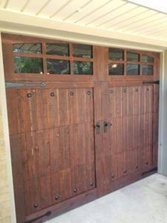 Customizable Cedar Garage Door Etsy Wooden Garage Doors Brick Exterior House Cedar Garage Door