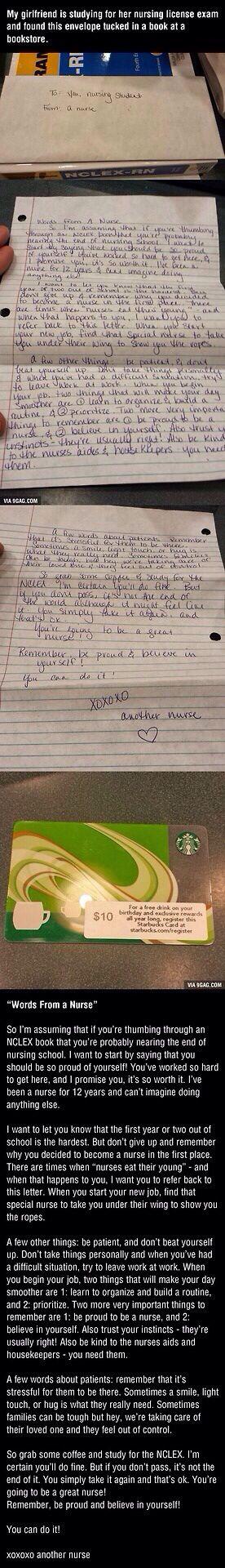 Nursing school generosity!