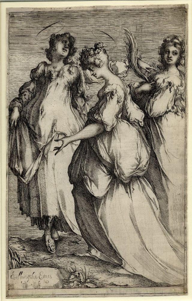 The three holy women (c.1610)