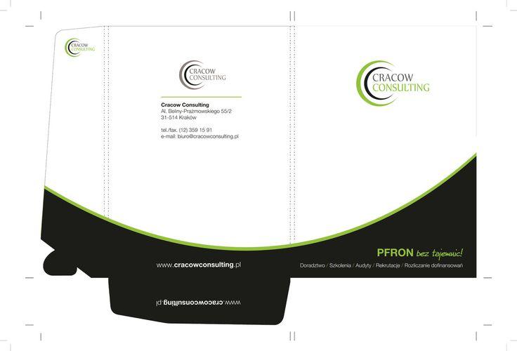 Cracow Consulting - Teczki ofertowe z lakierem wybiórczym UV