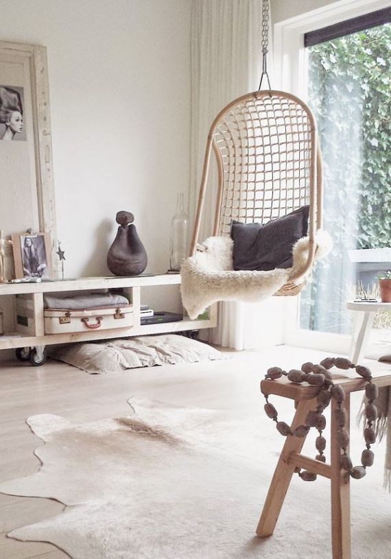 Hangstoel In Huis.Hangstoel Interieur Blog Pinterest Chaise Suspendue