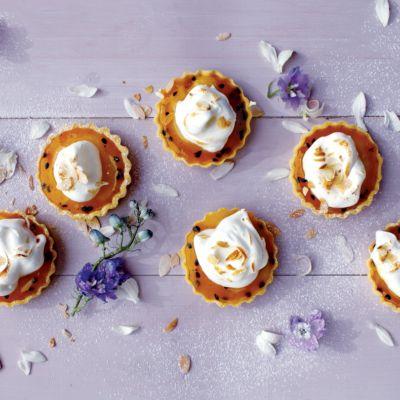 Taste Mag | Easy lemon curd and granadilla meringue @ https://taste.co.za/recipes/easy-lemon-curd-and-granadilla-meringue/