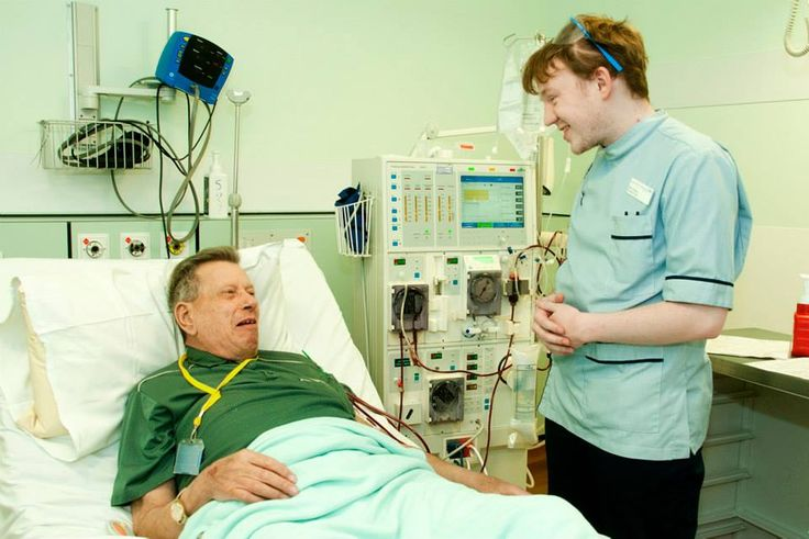 Ben is a renal nurse and says he enjoys getting to know his patients as individuals. — at Lister Hospital