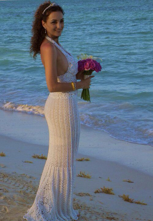 vestido de novia a crochet.   creaciones irene's   pinterest