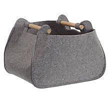 Buy John Lewis Grey Felt Storage Basket with Ash Handles Online at johnlewis.com