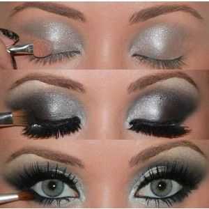 Silver Smokey Eye Makeup