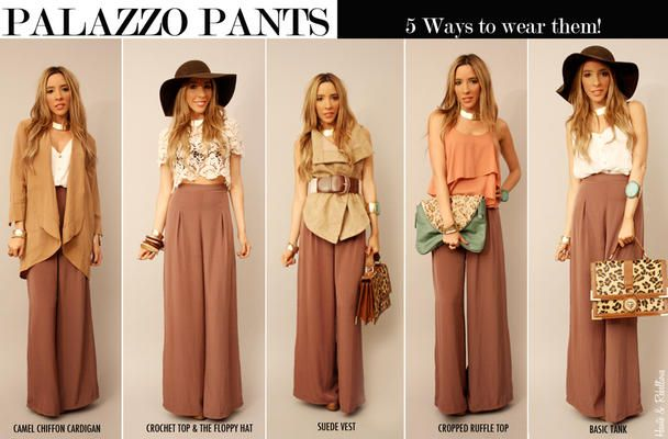 5 WAYS TO WEAR PALAZZO PANTS. Can't wait to wear my palazzos that momma got me for Christmas! ❤️