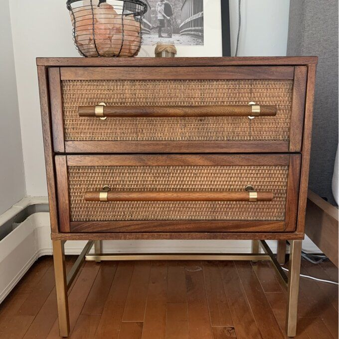 Sophia 2 Drawer Solid Wood Nightstand In 2020 Bedroom Night Stands Wood Nightstand Furniture