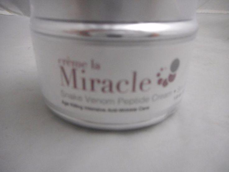 Creme La Miracle, Snake Venom Peptides, Cream,Achieve Younger Looking Skin. #CremeLaMiracle