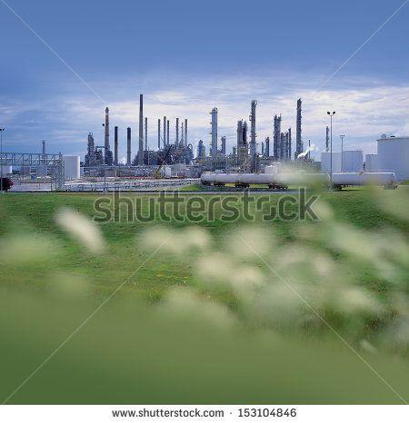 Factory - chemical factory in nature by Josef Hanus, via Shutterstock