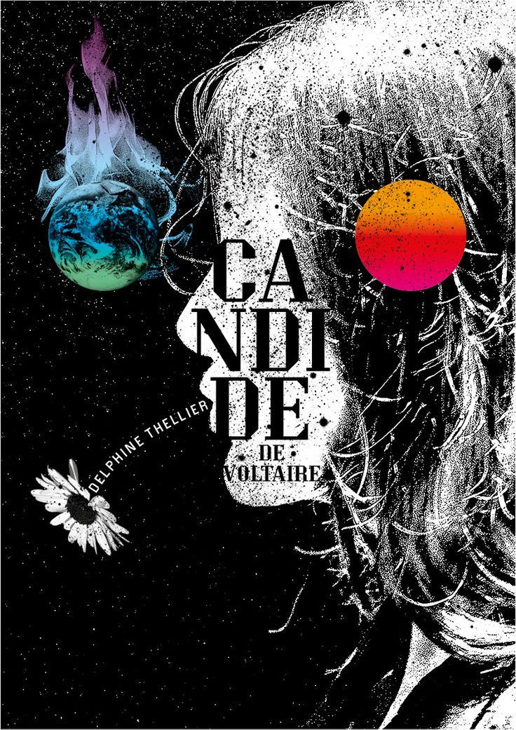 """Sébastien Marchal - Affiche pour le spectacle """"Candide"""" - Delphine Thellier - 2016"""