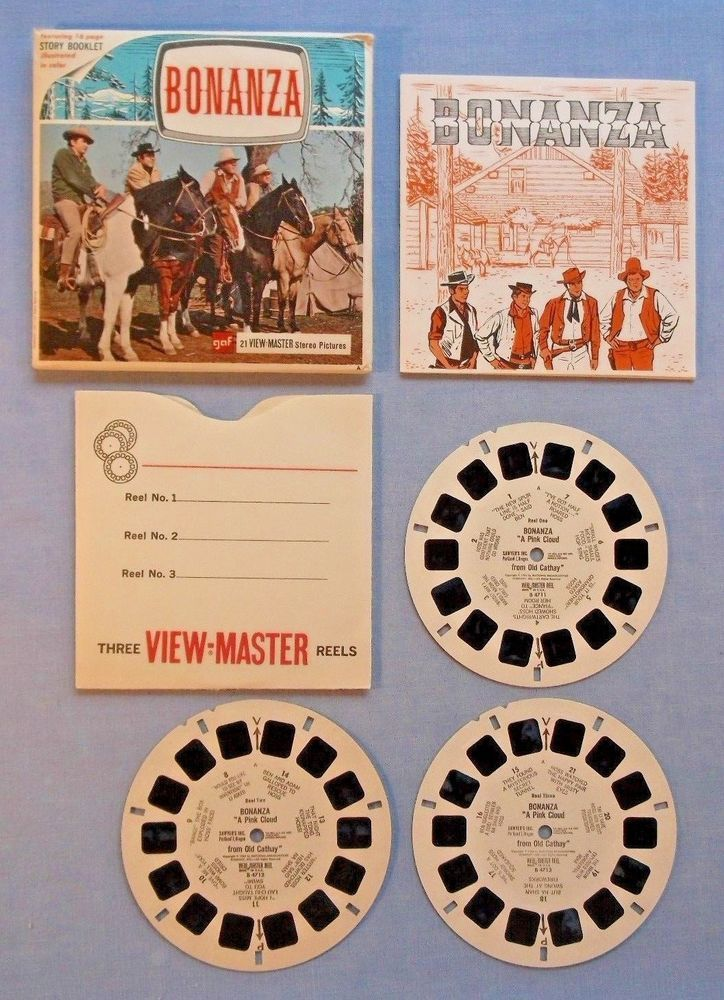 VIEWMASTER REELS - BONANZA - SET WITH BOOKLET - EXCELLENT CONDITION