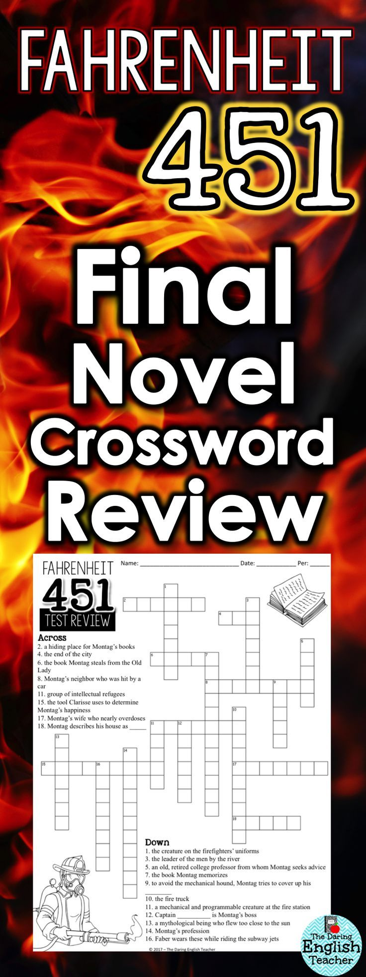 25 best ela 8th fahrenheit 451 module images on pinterest fahrenheit 451 review crossword puzzle with answer key fandeluxe Images