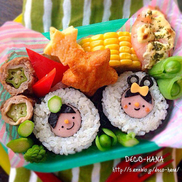 DECO HANA 旧 デコ巻きスタジオHANA's dish photo 織姫と彦星の簡単巻き寿司 | http://snapdish.co #SnapDish #レシピ #和食 #お寿司 #お弁当 #キャラ弁 #七夕