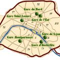 How to Navigate Paris Train Stations and Transfers: A Map and Travel Tips: Paris Train Station Map