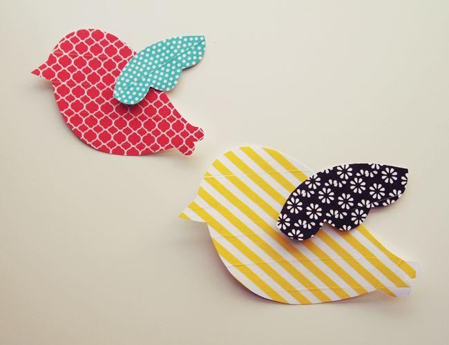 DIY washi prints birds pattern by design is yay!