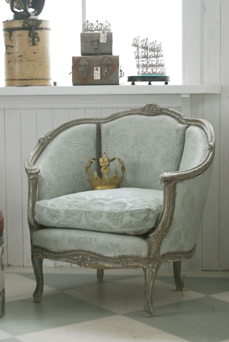 Orange damask chair - Love The Color Of This Chair