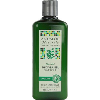 Andalou Naturals, Shower Gel, Aloe Mint, Cool, 11 Oz