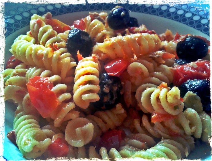 Mediterranean pasta for launch on sailboat