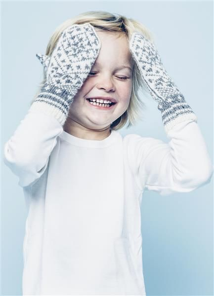 "Tema 42: Modell 17b ""Snøkrystall"" votter #strikk #knit #sisu"