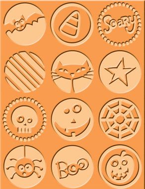 Provo Craft - Cuttlebug - Embossing Folder - Boo to You, CLEARANCE