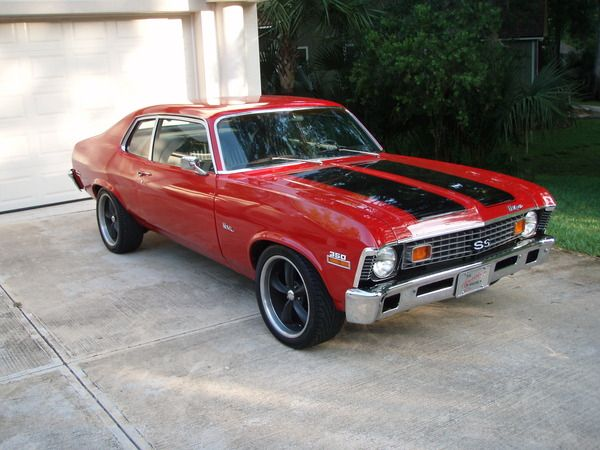 73 Chevy Nova SS, looks good in the right color combination. 350/TH350 Runs strong thru headers and flowmasters.