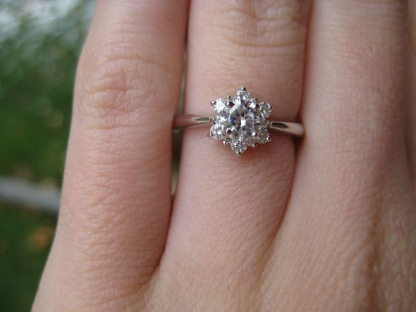 Delight Lady Di Diamond Engagement Ring // Hearts on Fire. in platinum,  shown