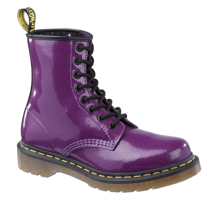 Purple Doc Martens -- mine were suede and purple and I was only 16 when I bought them... but if I had the foresight to know that I would be in art school at 40, I would have kept them!