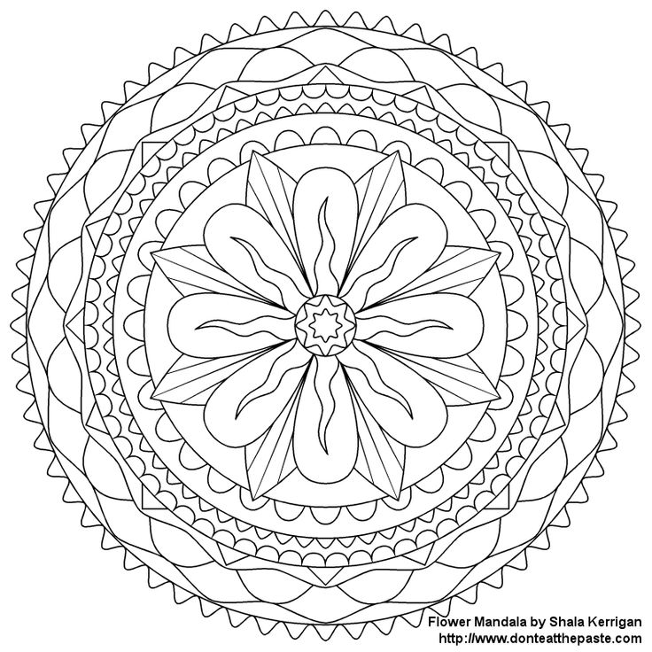 115 best mandalas images on pinterest drawings adult coloring simple mandala flower coloring pages