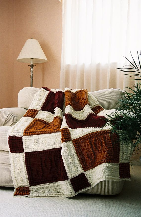 JOY pattern for crocheted blanket by ColorandShapeDesign on Etsy, $5.00