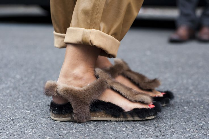 Fabulous footwear at #SS15 #MFW. #Streetstyle