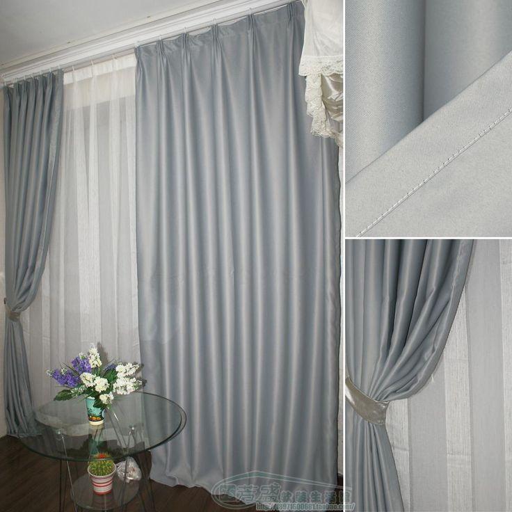 Современная шелк вс-затенение ткань гостиной в спальню занавес искусства ткани вс-затенение, Теплоизоляция, Звукоизоляция