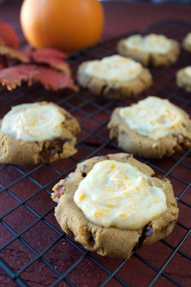 Paleo, Vegan Pumpkin Cookies with Orange Glaze   Plaid and Paleo