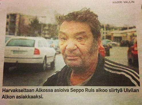 Harvakseltaan Alkossa käyvä Seppo on päättänyt äänestää jaloillaan. Heidän tappionsa!