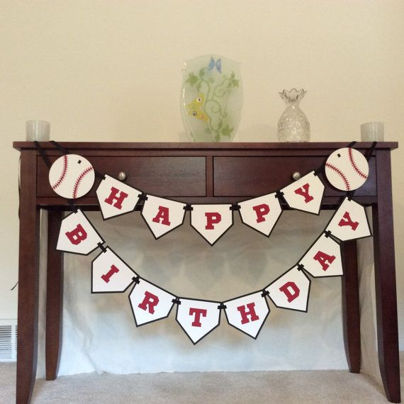 Hey, I found this really awesome Etsy listing at https://www.etsy.com/listing/197311138/baseball-happy-birthday-banner-baseball