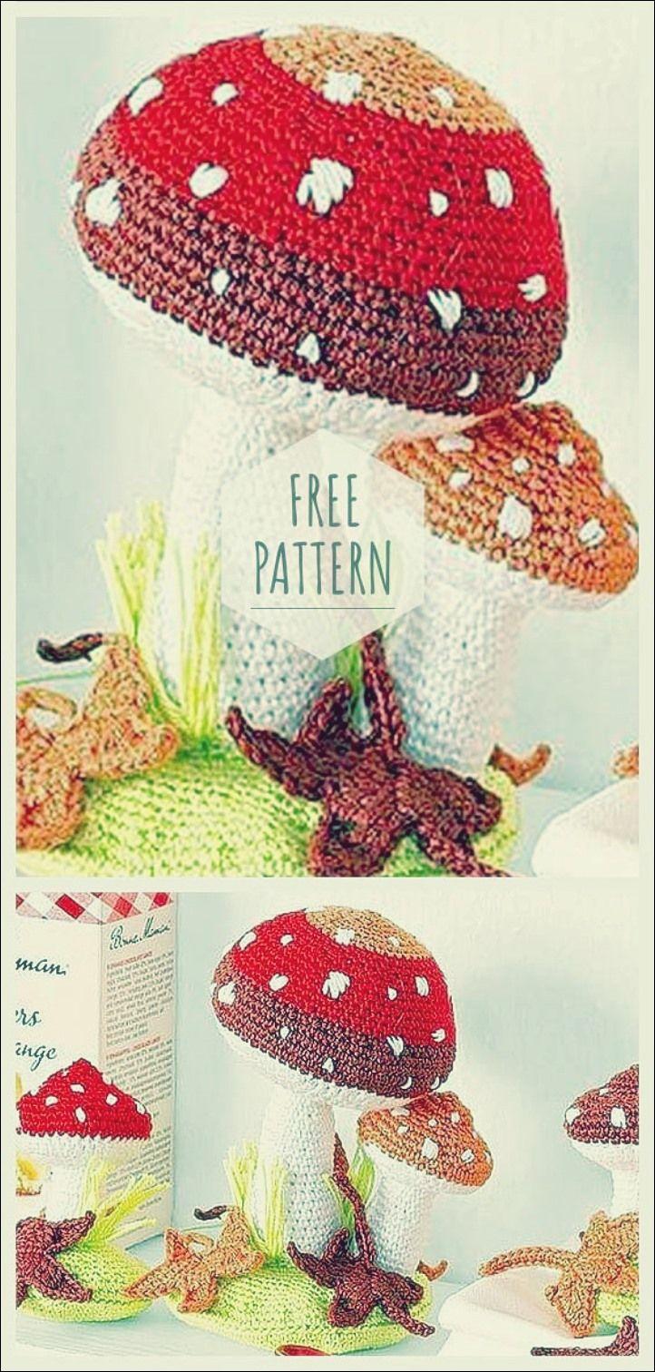 Hakeln Sie Mushroom Free Pattern Hakelmuster Fur Blumen Hakelmutzenmuster Bastelarbeiten