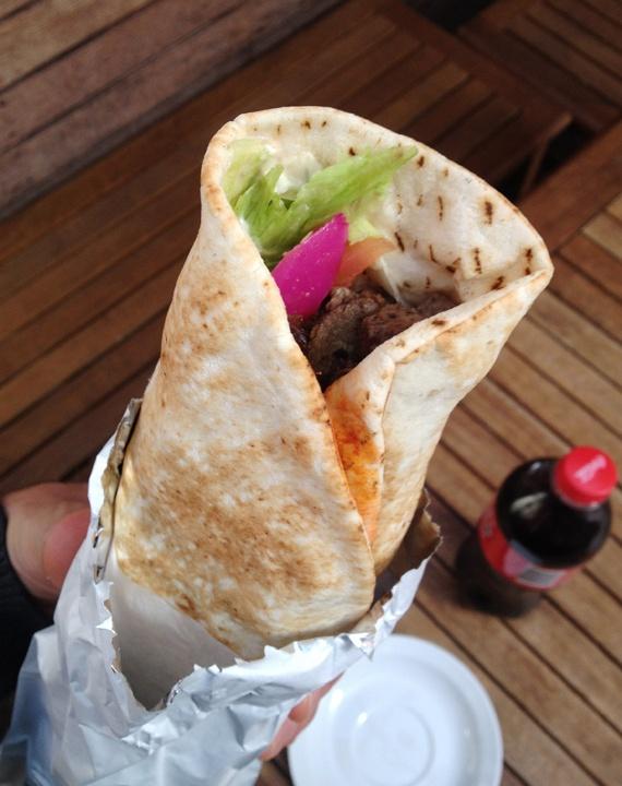 Lamb Kebab from Tiba's on Sydney Road BRUNSWICK