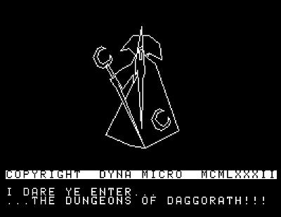 Old timey game time. Dungeons of Daggorath. Old school adventure, old school graphics, old school everything! #daggorath #dungeons #dungeonsofDaggorath #trs80 #retrogames #coco2 #coco3