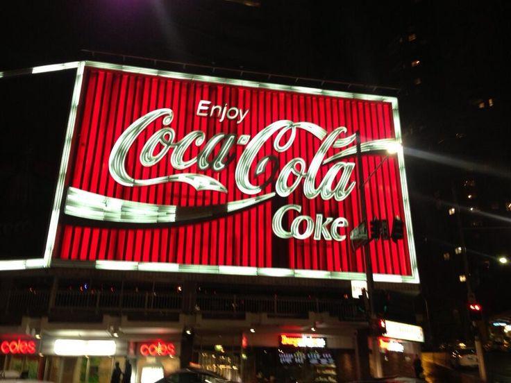 Photo: @Evan Smith (Twitter) - The famous Coca-Cola sign in Kings Cross, Sydney Australia.