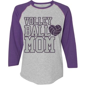 Volleyball Mom Misses Relaxed Fit Vintage Raglan Tee
