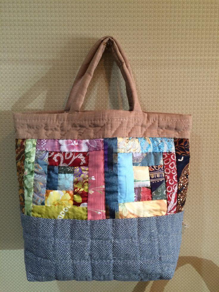 Small bag - Beige/Grey - Back side.