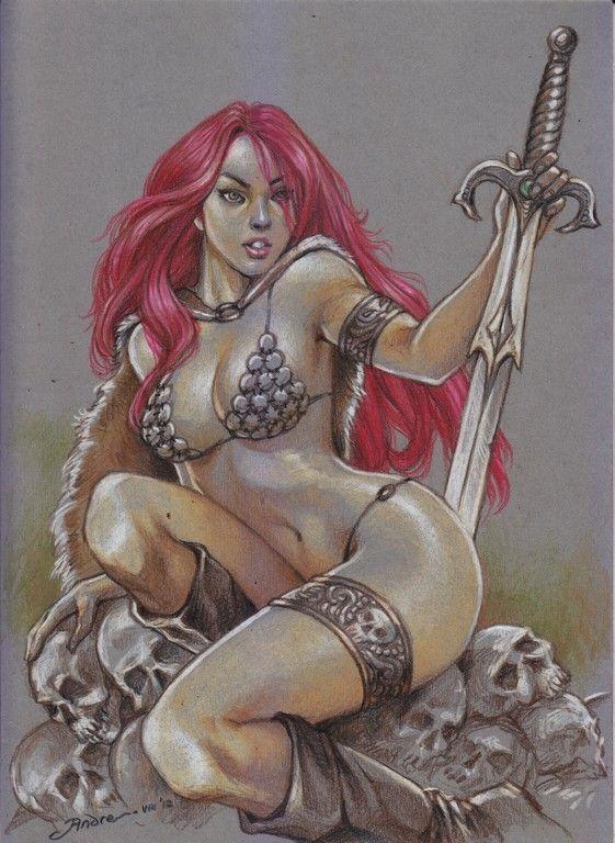 Red Sonja, by Andreanus Gunawan Comic Art                                                                                                                                                                                 More