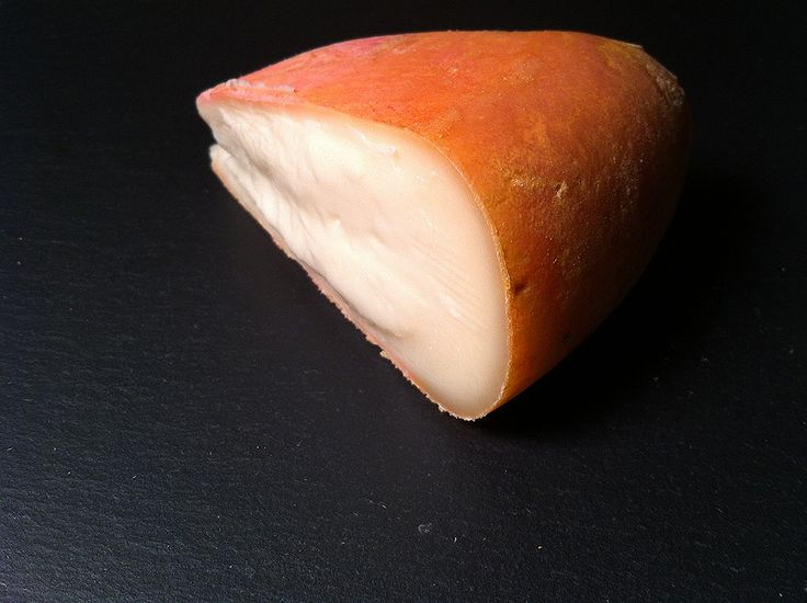 Cabricharme, a washed rind, raw goat's milk cheese from La Fermiere de Méan in Maffe, in the Ardennes region of Belgium.
