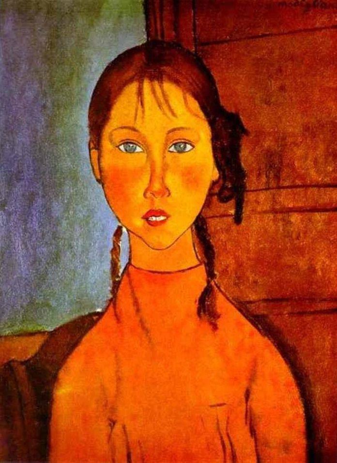 Modigliani ontwikkelde zijn geheel eigen stijl, die in de verte verwant is aan het kubisme, maar zonder de hoekige vormen. Bekend om zijn snelle arbeid, kon hij een portret in één of twee zittingen afmaken. Als een schilderij eenmaal af was, zou hij er nooit meer aan werken. Toch zeiden degenen die voor hem poseerden, dat het was alsof Modigliani je ziel blootlegde.