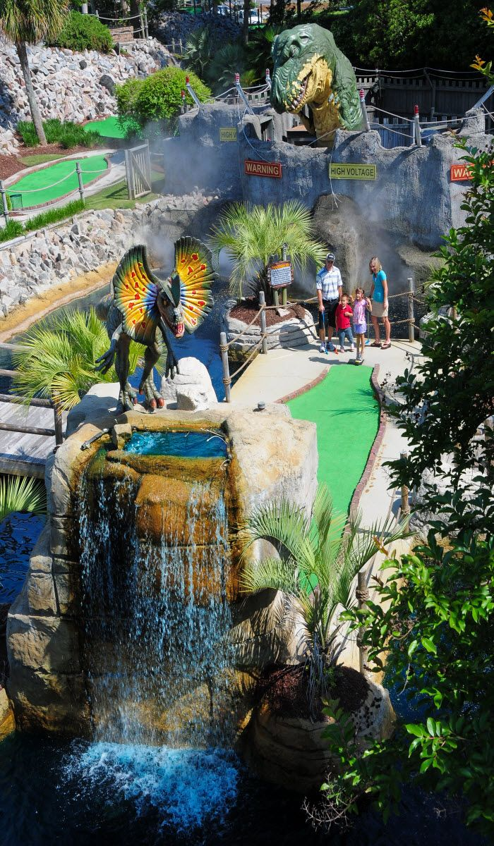 Step back in time at Jurassic Golf in Myrtle Beach, South Carolina!  Mini golf is one of many favorite things to do!  http://www.visitmyrtlebeach.com/things-to-do/