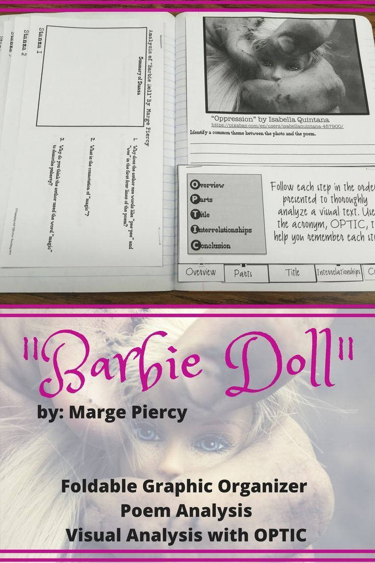 best interactive notebooks images secondary   barbie doll poetry analysis for interactive notebook